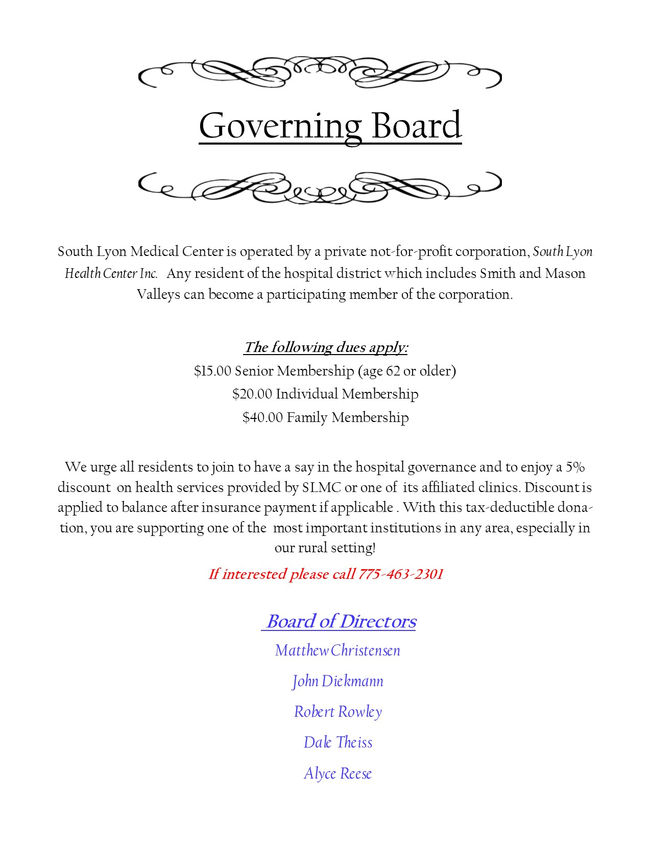 Governing Board CURRENT 802019