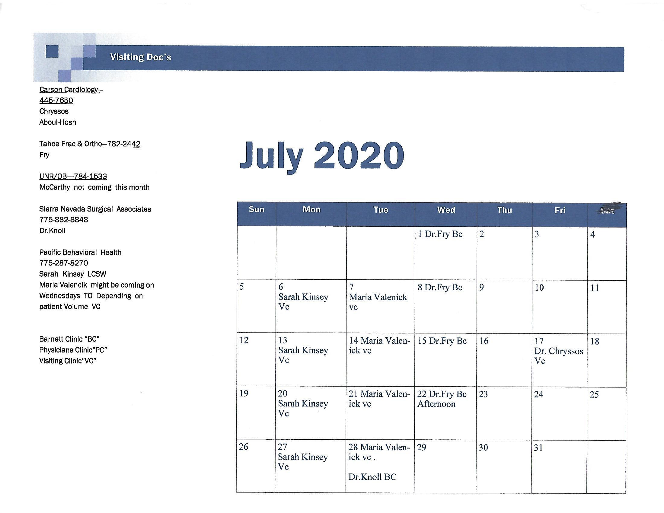 July 2020 visiting doc